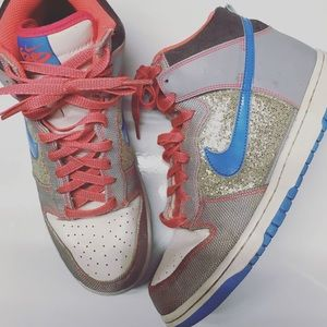Nike glitter skater hi tops size 10